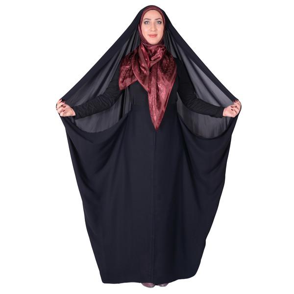 چادر کمری حسنا کرپ کن کن ژرژت شهر حجاب مدل 8046