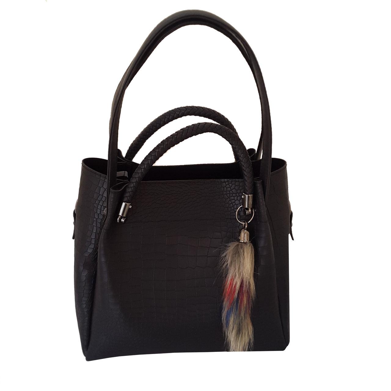 کیف دستی زنانه طرح سنگی مدل KRS881