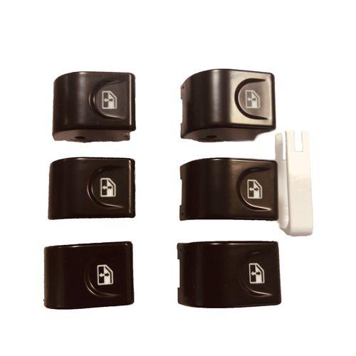 کلید شیشه بالابر بک لایت دار نوتاش مدل J5 مناسب برای خودرو جک جی ۵ مجموعه 6 عددی