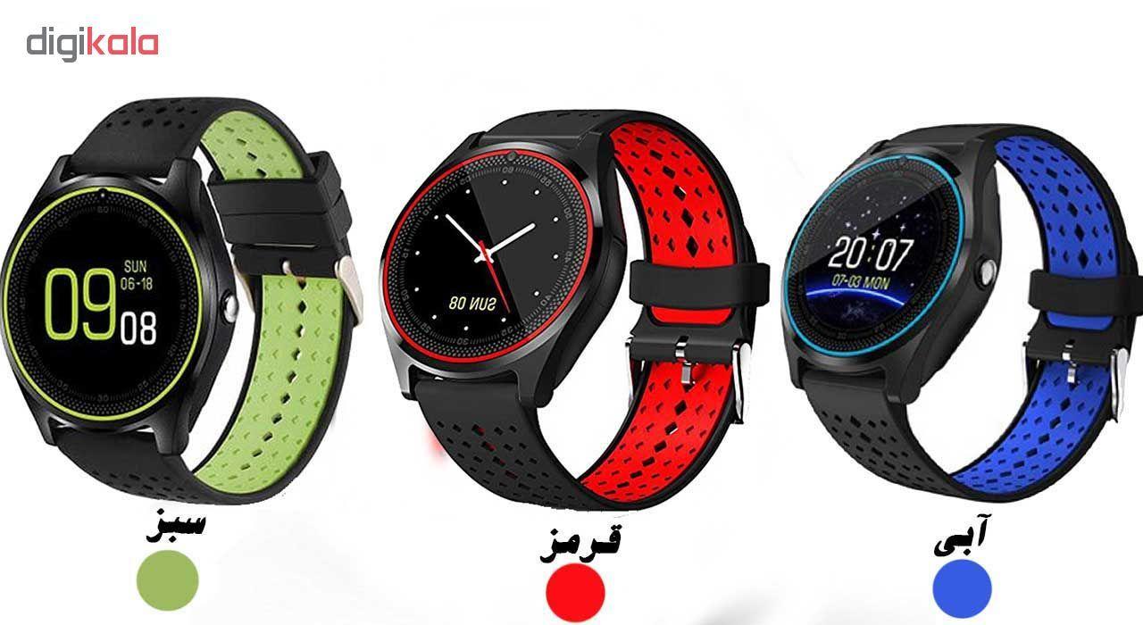 ساعت مچی هوشمند مدل V9 همراه محافظ صفحه نمایش شیدتگ main 1 5