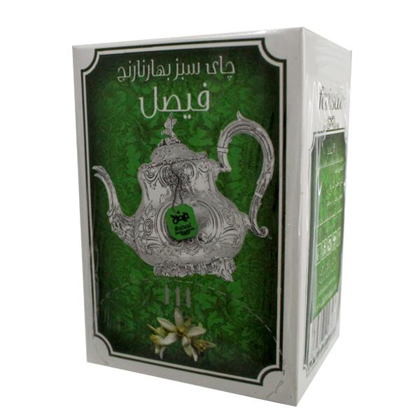 دمنوش گیاهی چای سبز و بهار نارنج فیصل بسته 12عددی