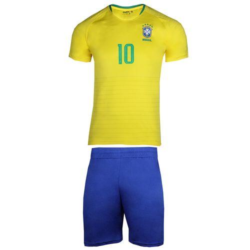 پیراهن و شورت ورزشی پانیل طرح تیم برزیل کد 3013