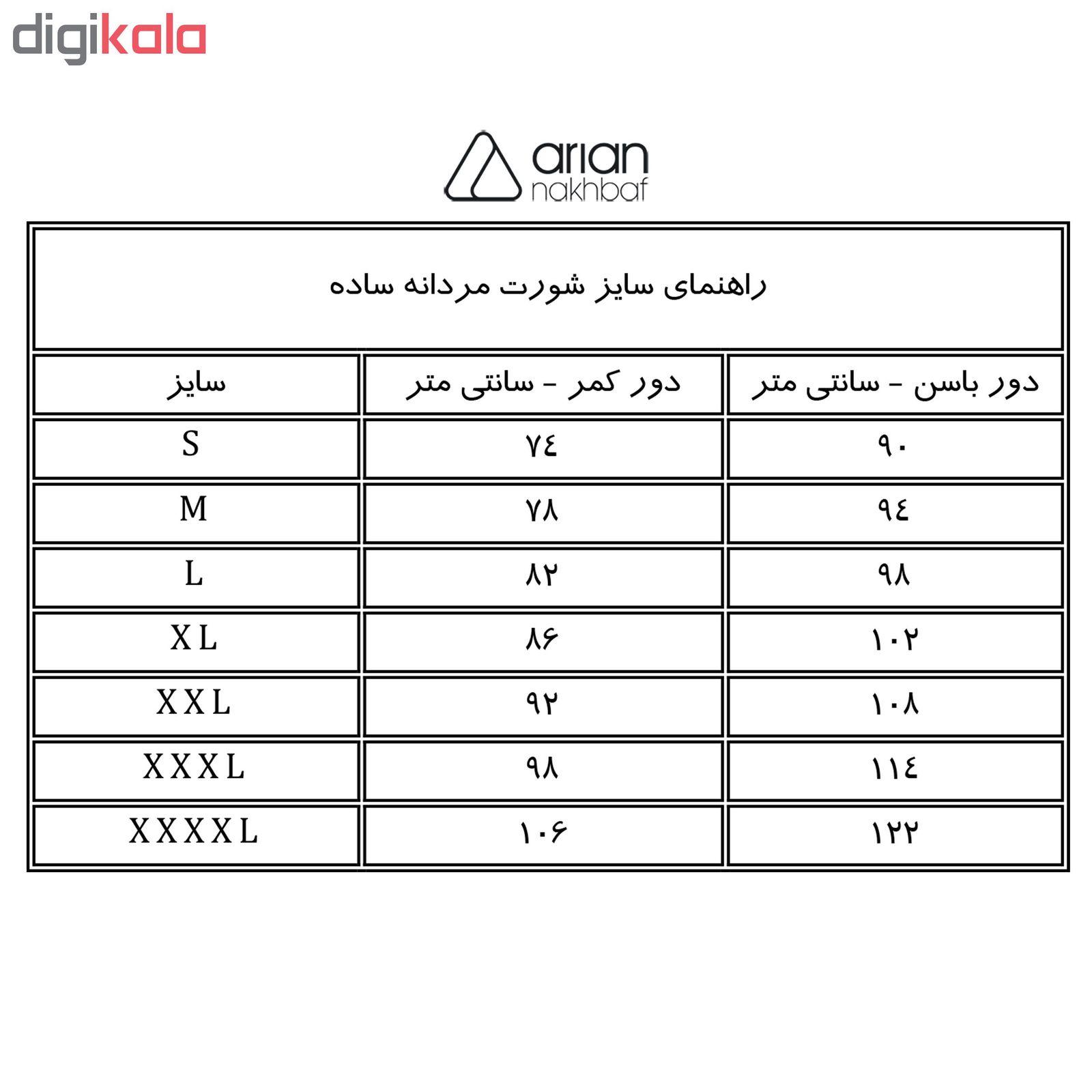 شورت مردانه آریان نخ باف کد 1314 مجموعه 3 عددی main 1 1