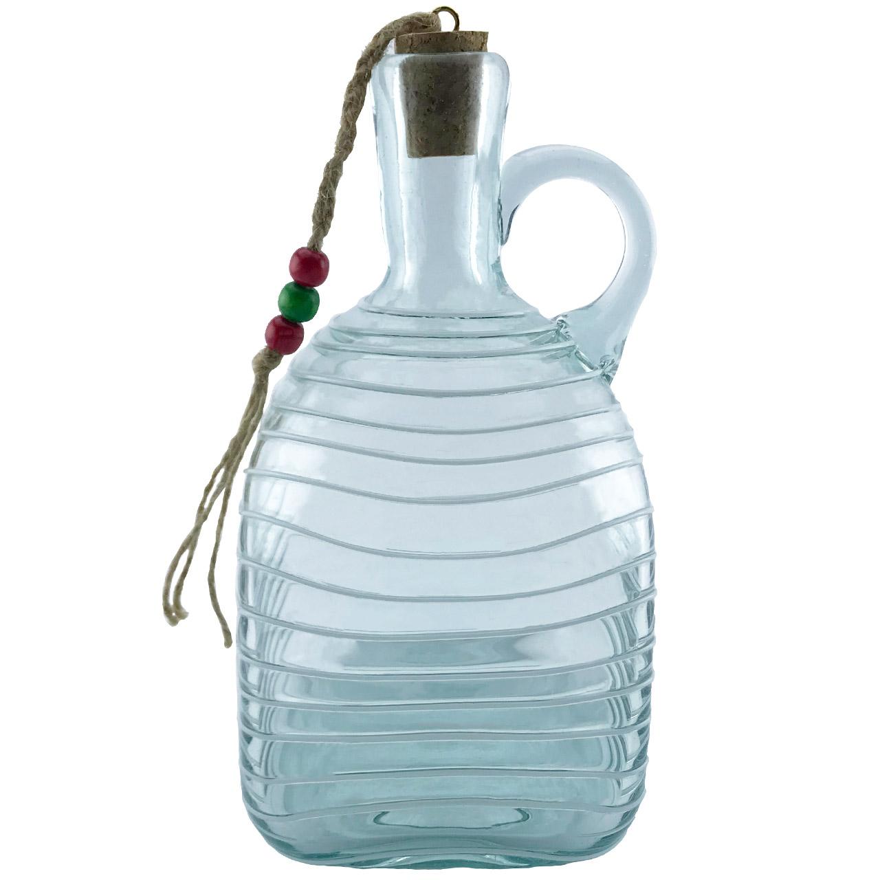 بطری شیشه ای طرح چهارگوش نواری کد 511