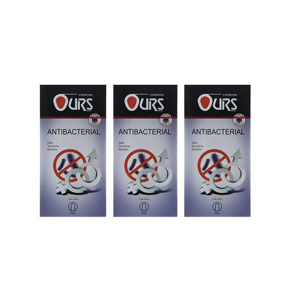 قیمت کاندوم اورز مدل Antibacterial And Antifungal سه بسته 12 عددی