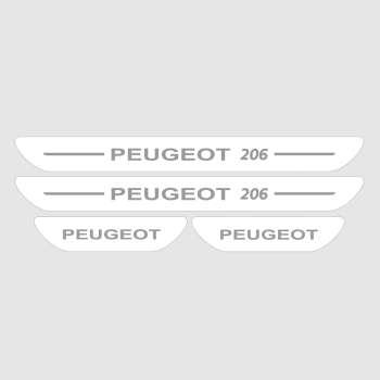 برچسب پارکابی خودرو مدل S165 مناسب برای پژو 206