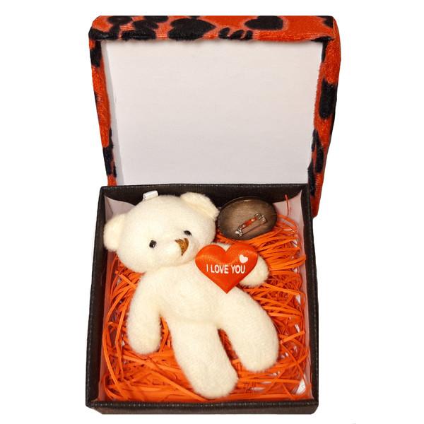 ست هدیه عروسک خرس به همراه جعبه کادویی