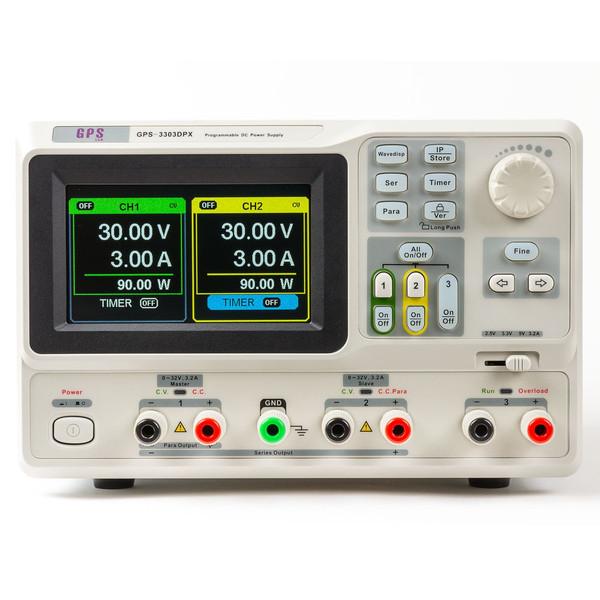 منبع تغذیه جی پی اس لیمیتد مدل GPS-3303DPX قابل برنامه ریزی 30 ولت 3 آمپر دوبل