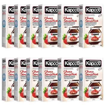 کاندوم کاپوت مدل CHOCO SENSETIVE بسته 12 عددی