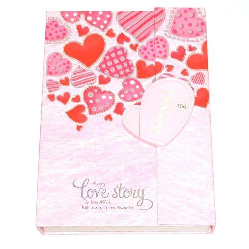 دفتر خاطرات رمز دار طرح Love Story