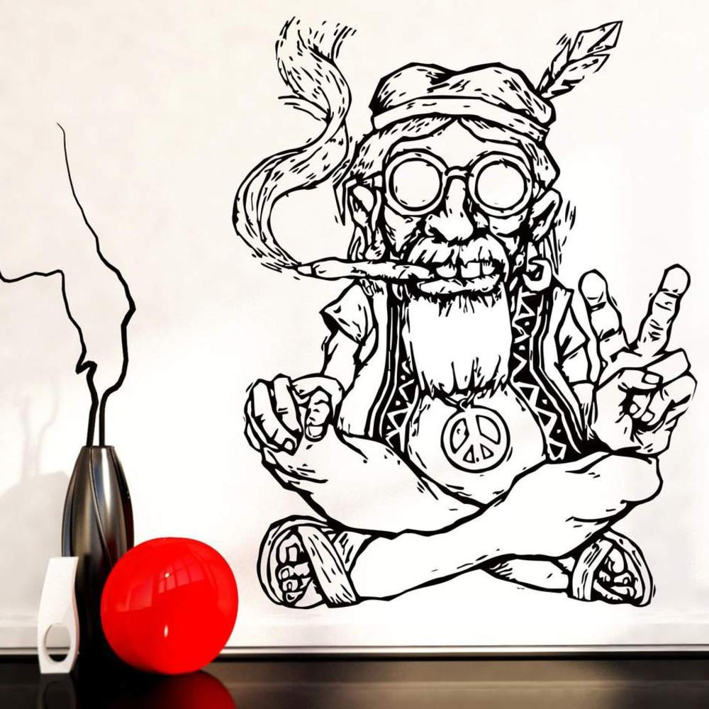 استیکر وی وین آرت طرح Hippie کد S14