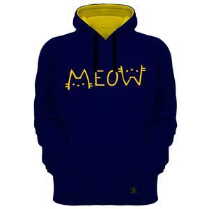 هودی زنانه 27 مدل Meow کد B11 رنگ سرمه ای