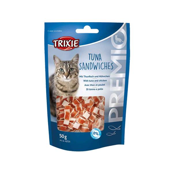 غذای تشویقی گربه تریکسی مدل Tuna Sandwiches وزن 50 گرم