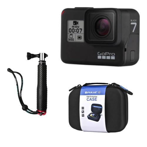 دوربین فیلم برداری ورزشی گوپرو مدل HERO7 Black Quick Stories به همراه کیف و مونوپاد پلوز