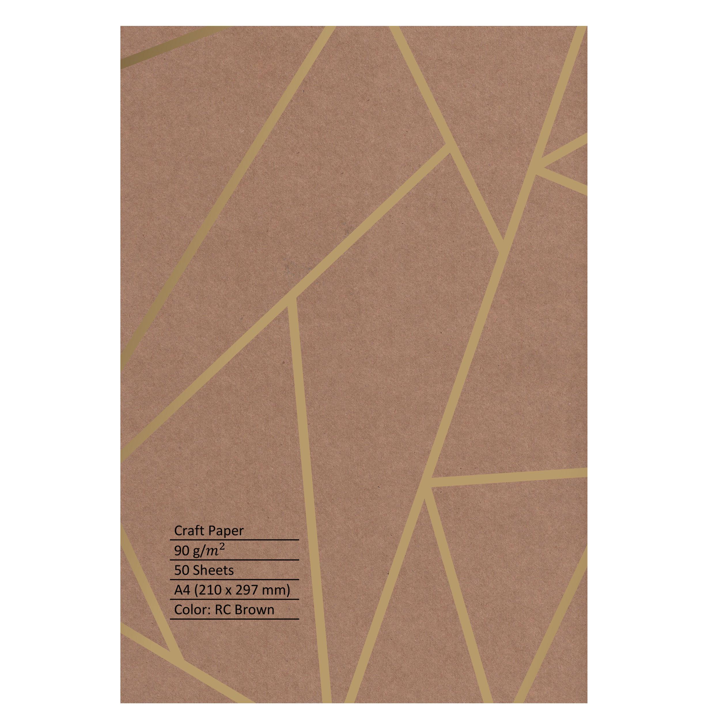 کاغذ 90 گرمی کرافت مدل u90 سایز A4 بسته 50 عددی