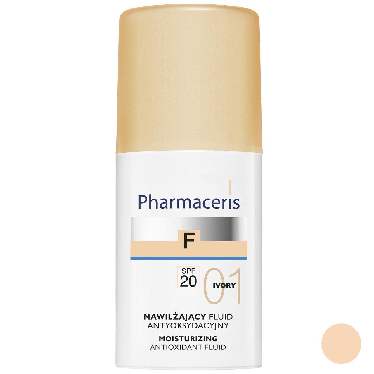 کرم پودر فارماسریز سری Ivory Antioxidant مدل Moisturizing SPF20 حجم 30 میلی لیتر
