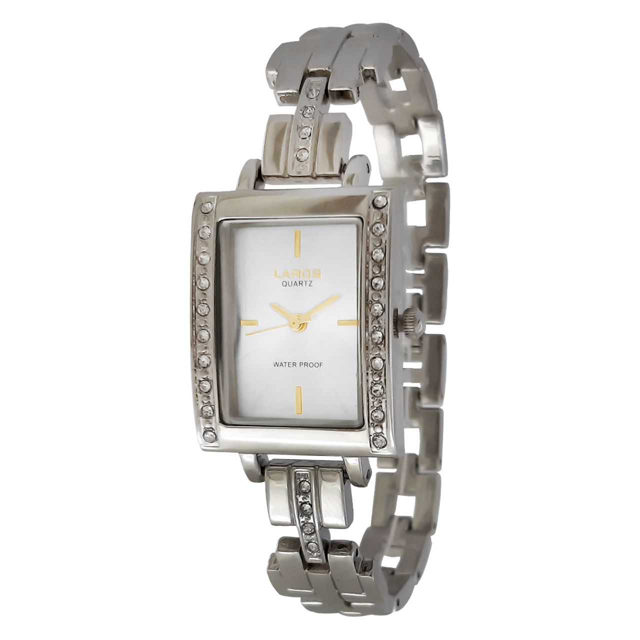 ساعت مچی عقربه ای عقربه طلایی زنانه لاروس مدل 0816-79898