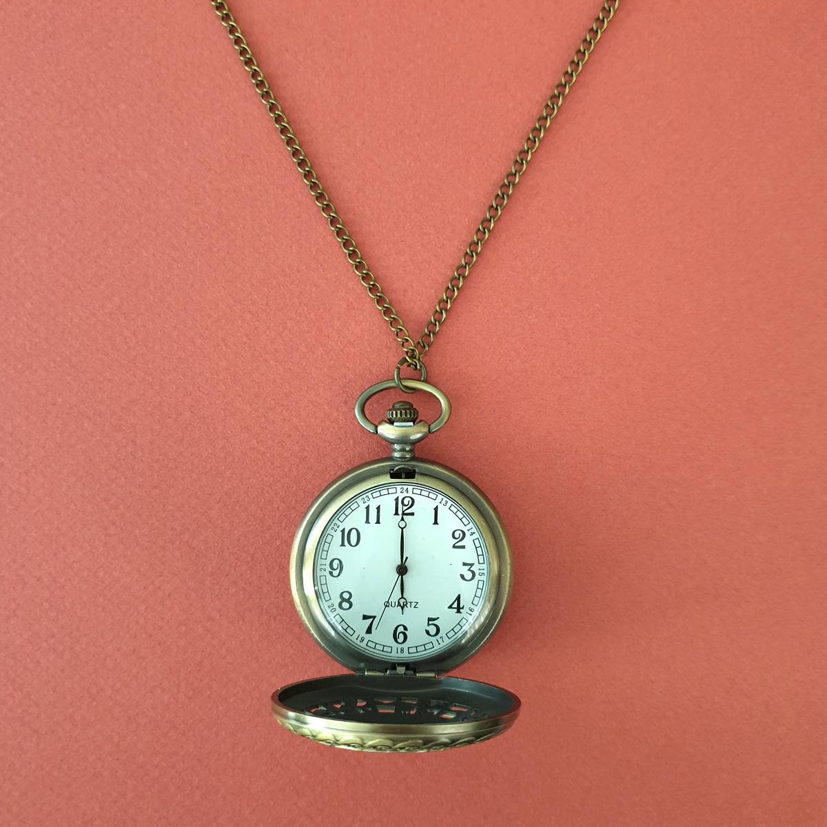 ساعت گردنبندی عقربه ای زنانه طرح جغد كد WCH09              ارزان