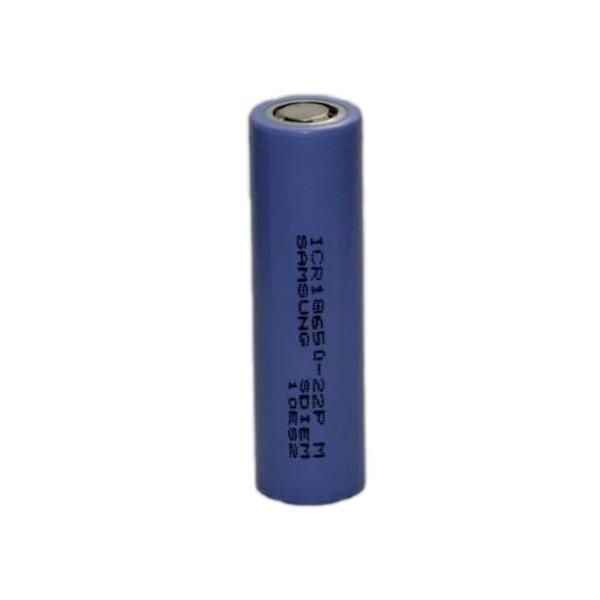 باتری لیتیوم یون قابل شارژ سامسونگ کد 18650 ظرفیت 2200 میلی آمپرساعت