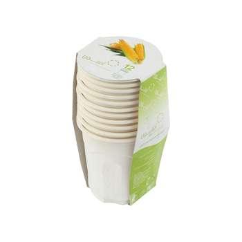 لیوان گیاهی یکبار مصرف آملون کد 200CC12 بسته 12 عددی