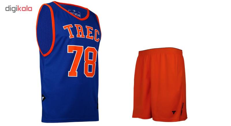 ست تاپ و شلوارک ورزشی مردانه ترک ویر مدل Royal Blue-Orange 78