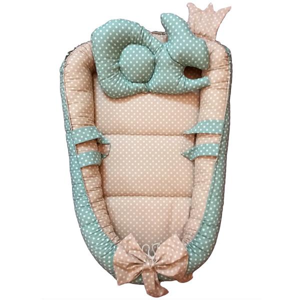 سرویس 3 تکه خواب نوزادی تاپ دوزانی مدل رابیتاپ