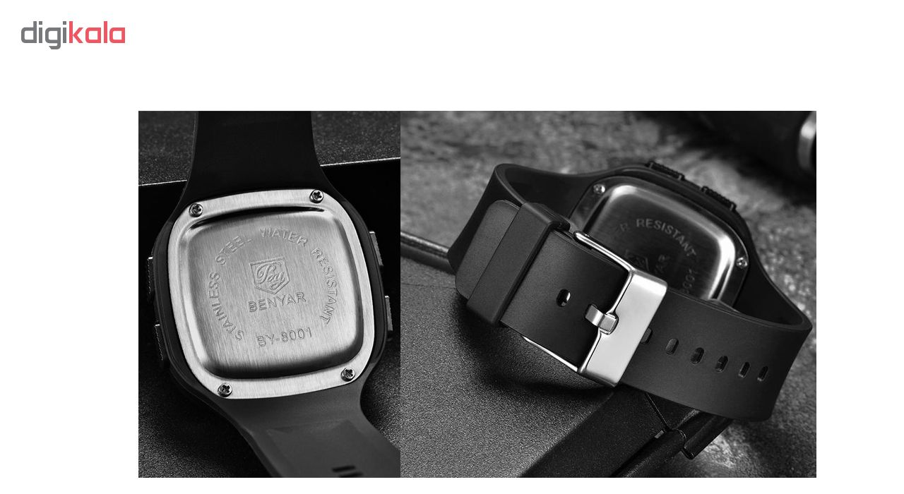 ساعت مچی دیجیتالی  بنیار مدل 8001G
