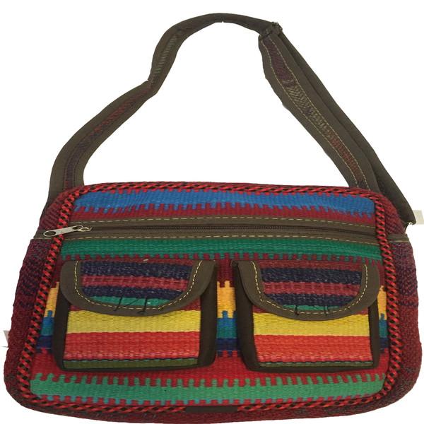 کیف دوشی زنانه صنایع دستی شیاسی مدل AJ1