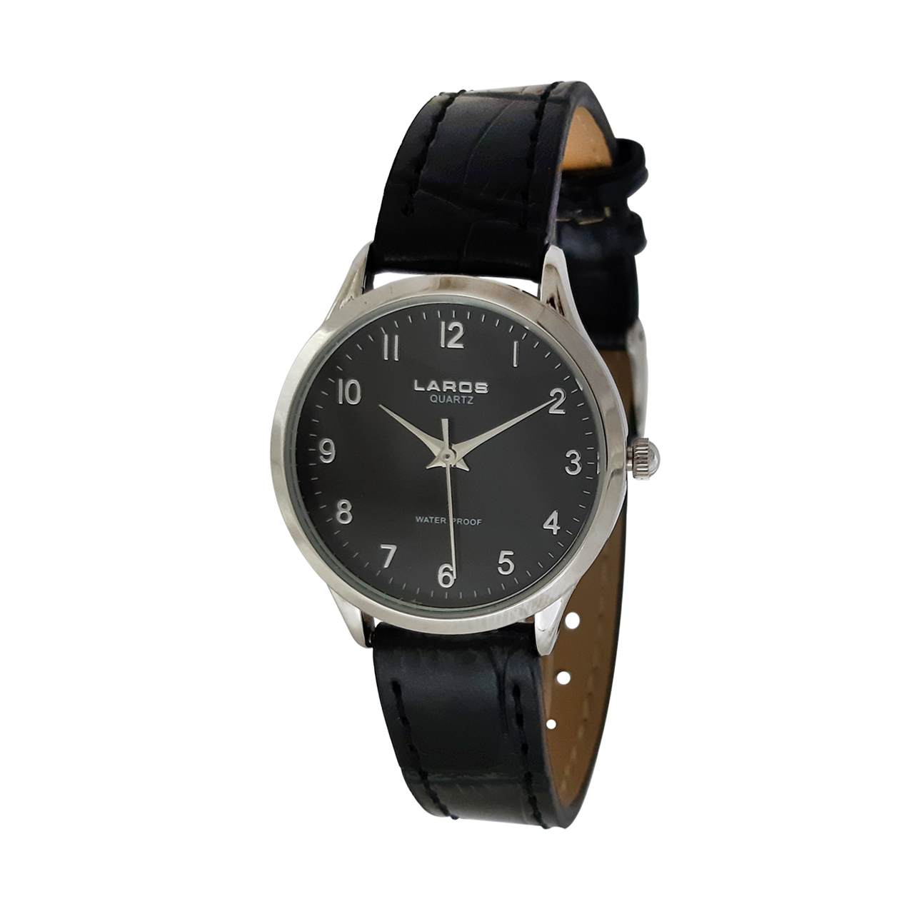 ساعت مچی عقربه ای زنانه لاروس مدل 0118-80206-s به همراه دستمال مخصوص برند کلین واچ 53