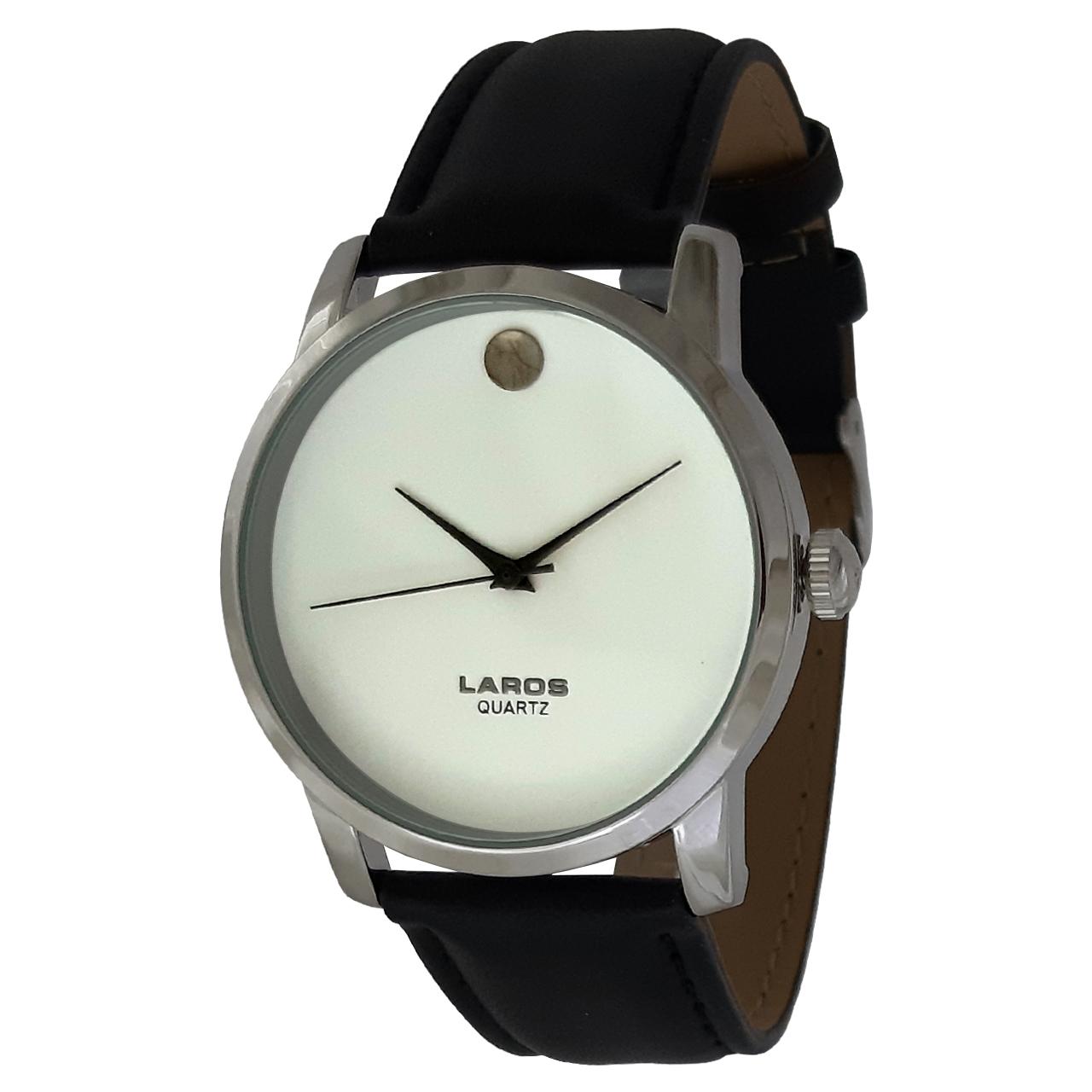 ساعت مچی عقربه ای مردانه لاروس مدل 0817-79931-s به همراه دستمال مخصوص برند کلین واچ