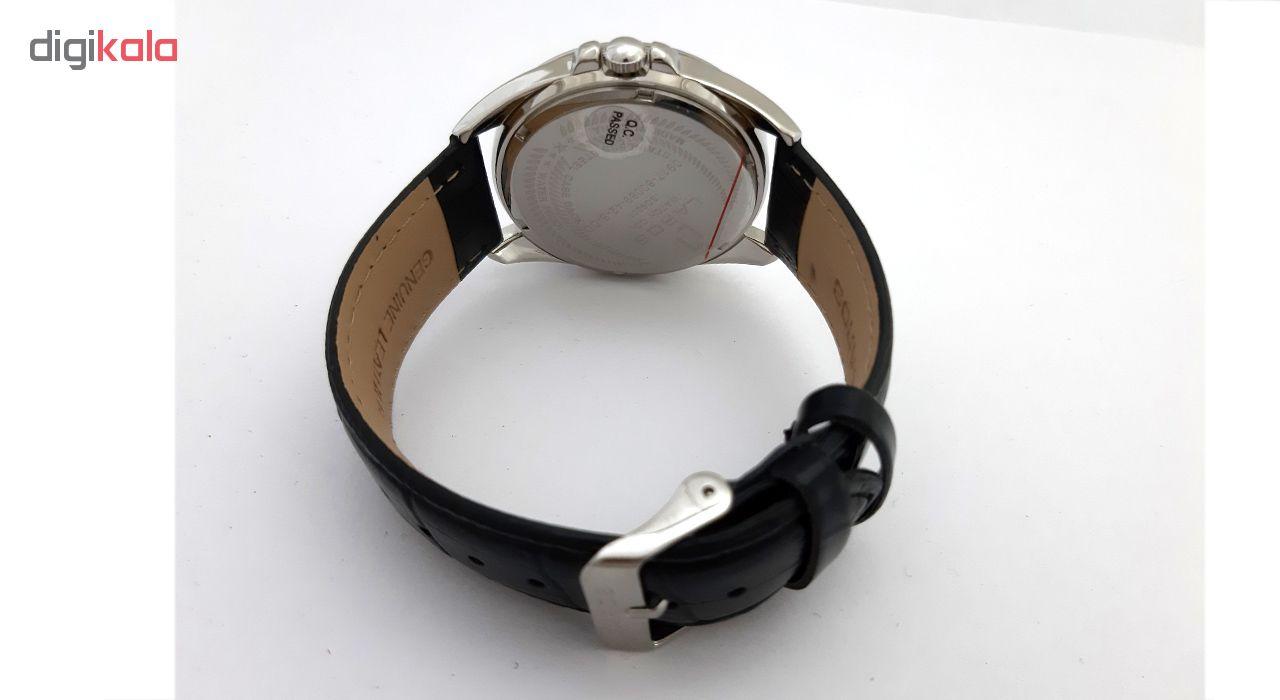 ساعت مچی عقربه ای مردانه لاروس مدل 0917-80089-42-s-dd به همراه دستمال مخصوص برند کلین واچ
