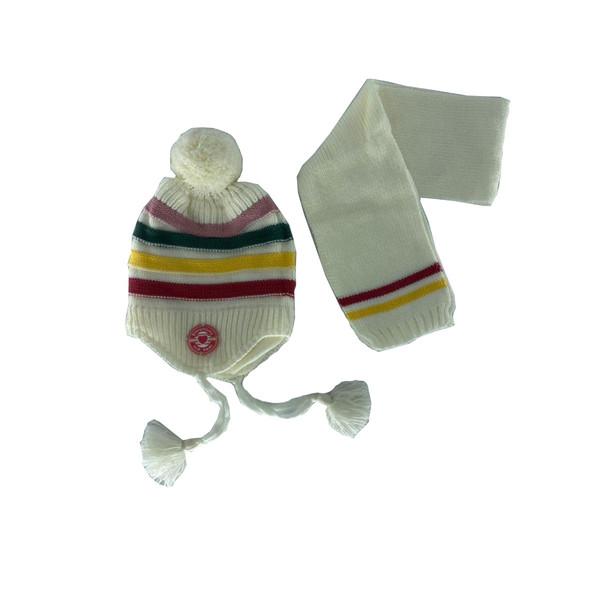 ست کلاه و شال گردن بافتنی بچگانه آی چیلک مدل IC002