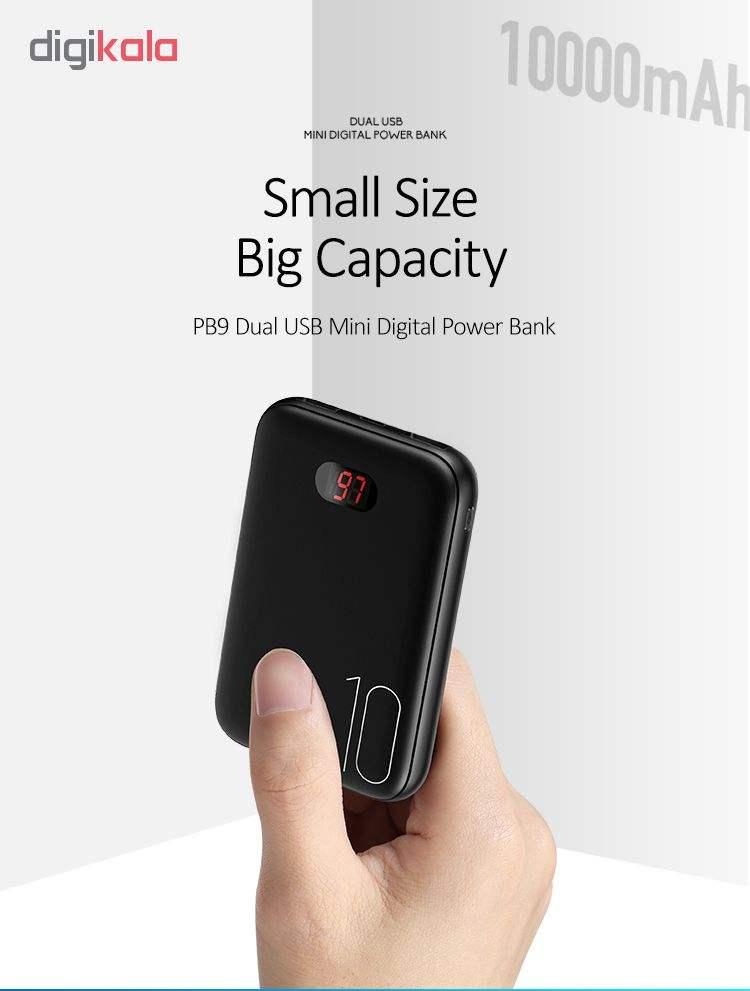 پاور بانک یوسمز مدلpower bank PB9 Mini با ظرفیت 10000میلی آمپر ساعت main 1 9