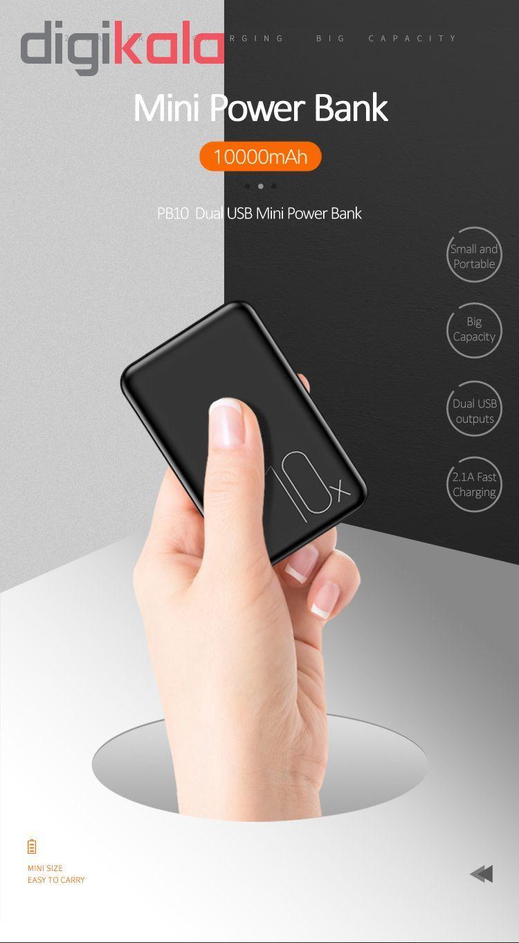 پاور بانک یوسمز مدل PB10 Mini ظرفیت 10000میلی آمپر ساعت main 1 3