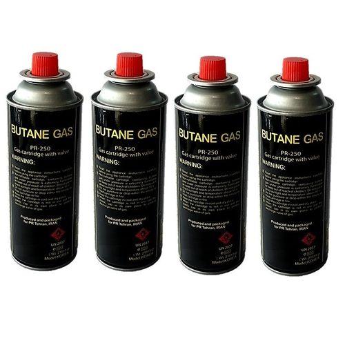 کپسول گاز بوتان 220 گرمی پارس رگلاتور مدل 250 PR بسته 4 عددی