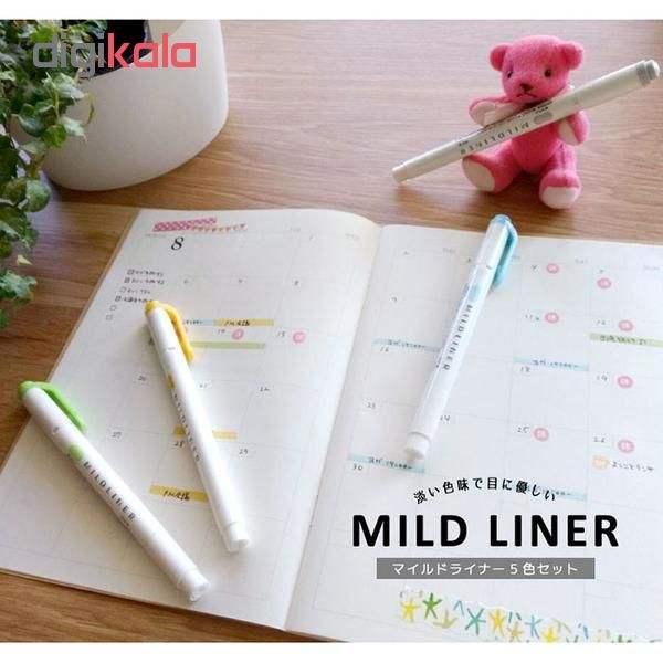 ماژیک علامت گذار 5 رنگ زبرا مدل MILDLINER طرح (Friendly Colors (New Colors (بدون قاب طلقی) main 1 6