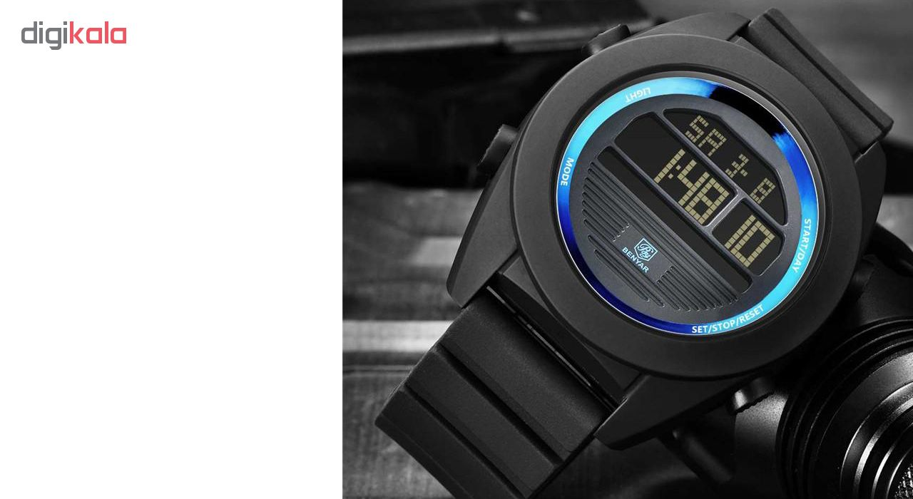 خرید ساعت مچی دیجیتالی مردانه بنیار مدل 8002A