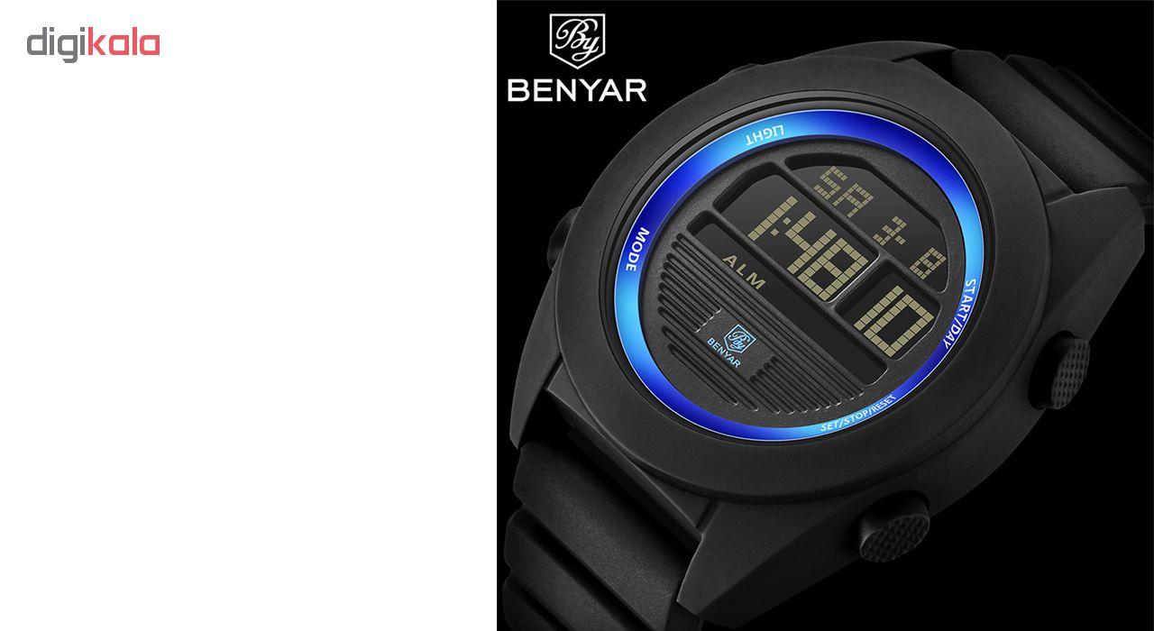ساعت مچی دیجیتالی مردانه بنیار مدل 8002A