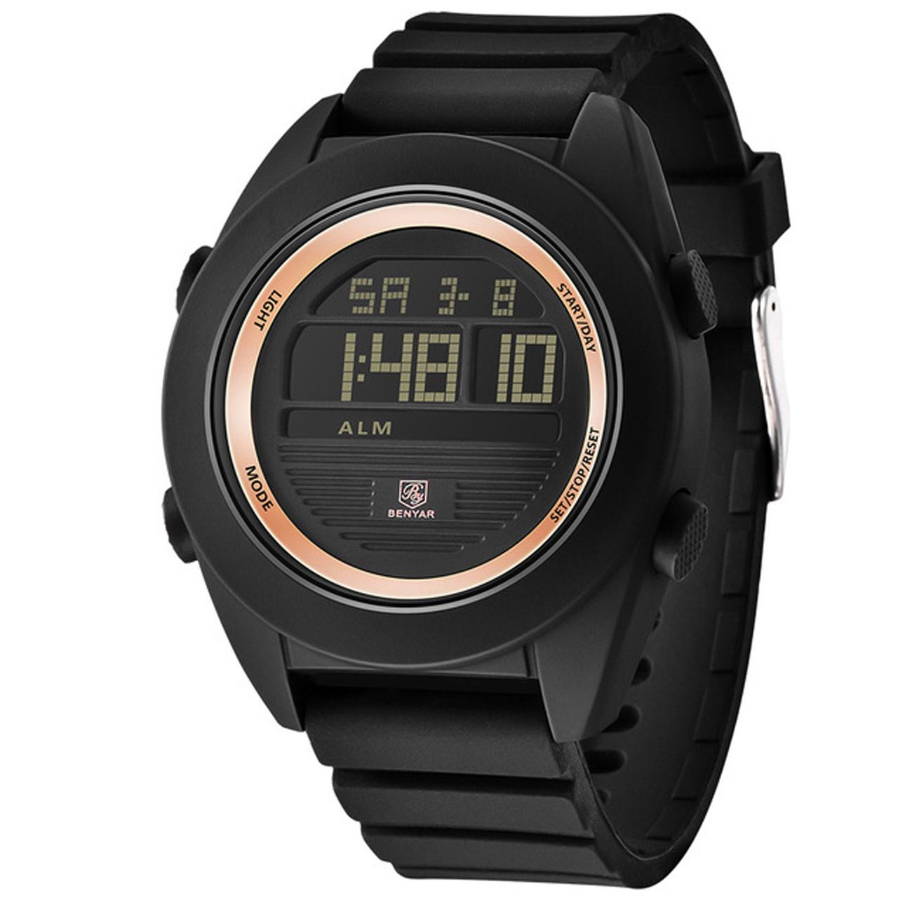 ساعت مچی دیجیتالی مردانه بنیار مدل 8002RG 12