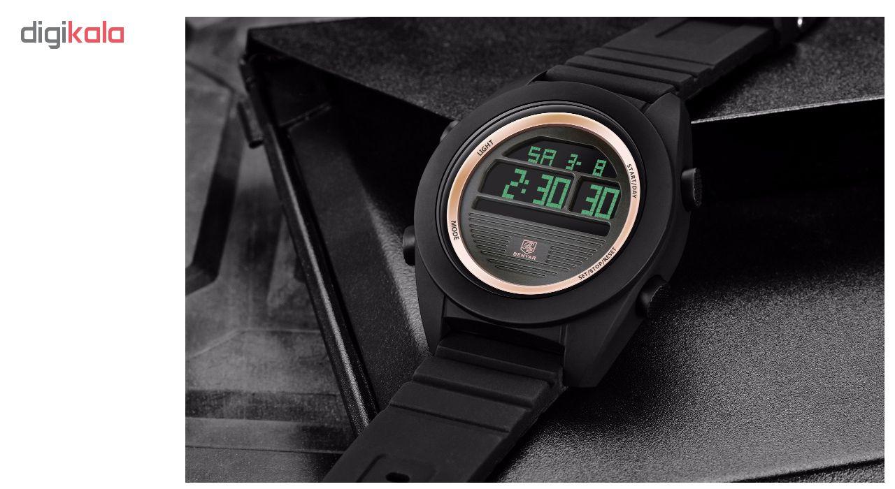 ساعت مچی دیجیتالی مردانه بنیار مدل 8002RG