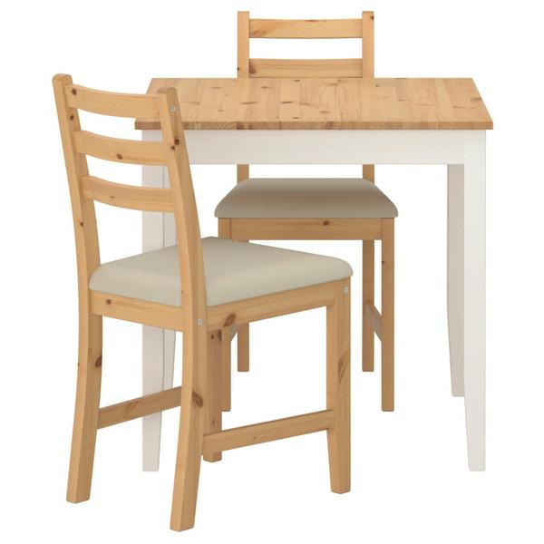 میز ناهارخوری ایکیا دونفره مدل لرهامن
