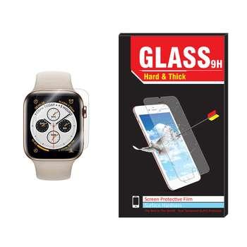 محافظ صفحه نمایش Hard and thick مدل 4D-UV مناسب برای اپل واچ ۴۴ میلی متر
