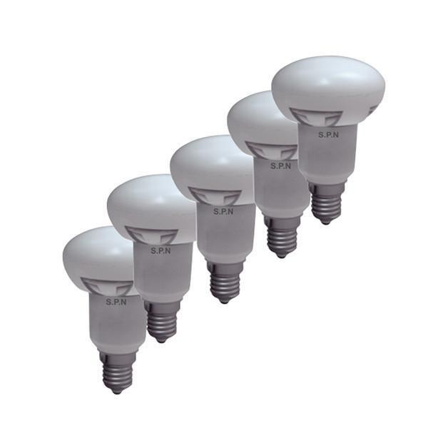 لامپ ال ای دی 6 وات اس پی ان مدل R50 پایه E14 بسته 5 عددی