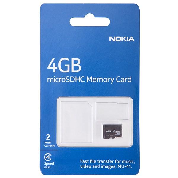 کارت حافظه microSDHC نوکیا مدل MU41 ظرفیت 4 گیگابایت