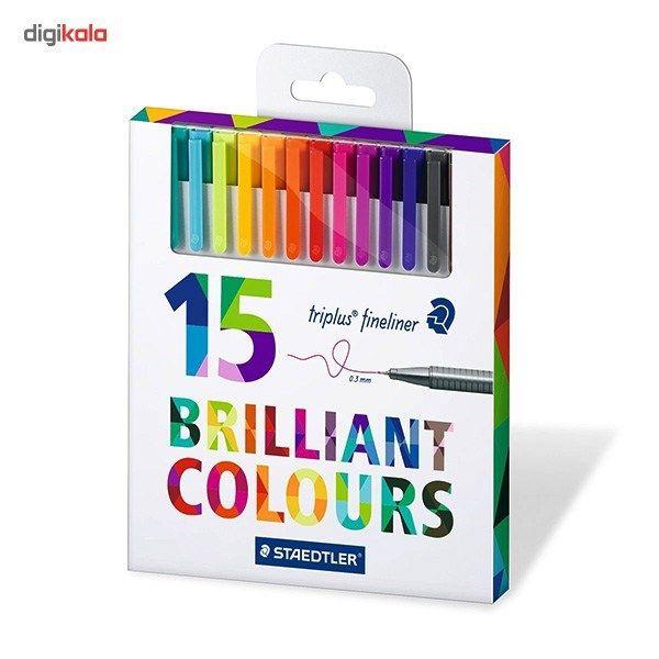 روان نویس 15 رنگ استدلر مدل Triplus Brilliant Colours main 1 2