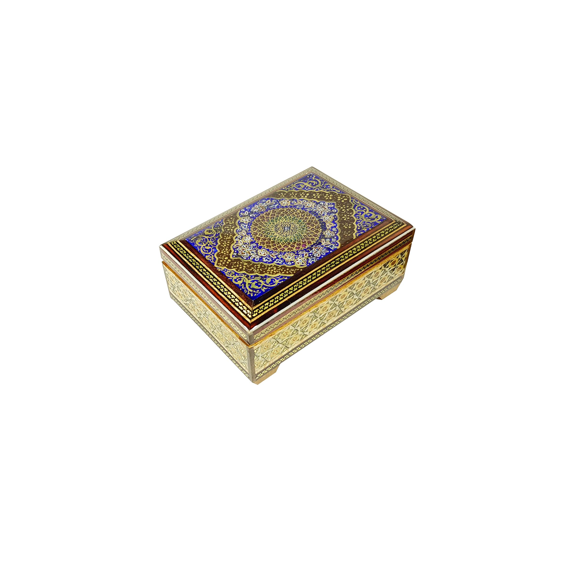 خرید                      جعبه جواهر خاتم کاری مدل SH-007
