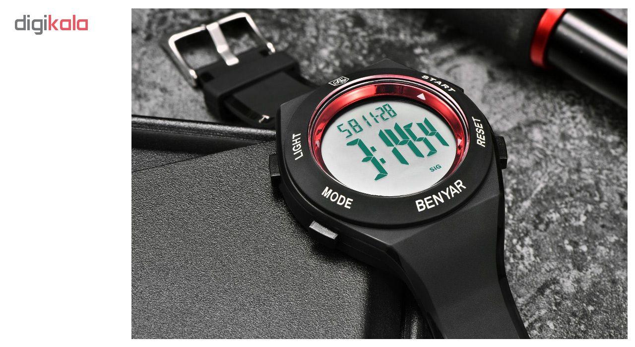 ساعت مچی دیجیتالی مردانه بنیار مدل 8003R