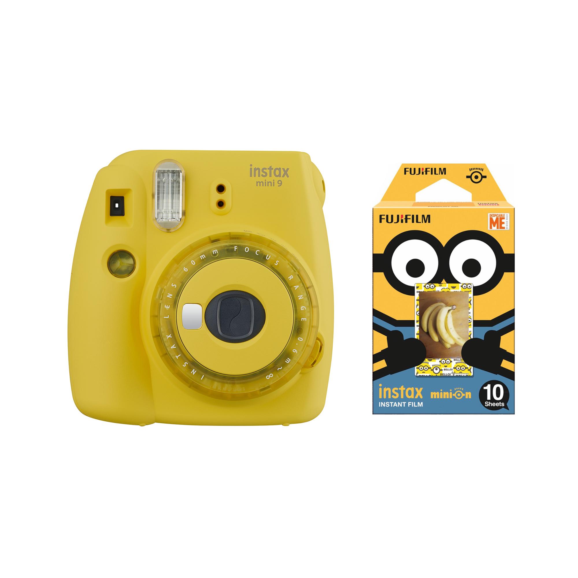 دوربین عکاسی چاپ سریع فوجی فیلم مدل Instax Mini 9 Clear به همراه یک بسته فیلم مدل Despicable Me بسته ۱۰ عددی