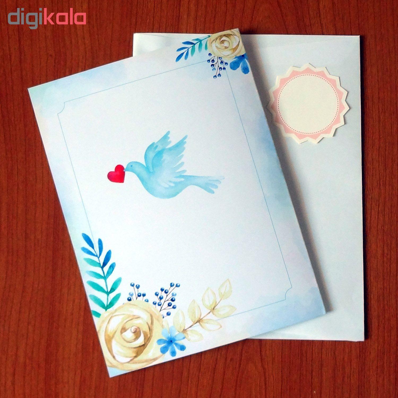 کارت پستال سه بعدی طرح پرنده و قفس کد CP001 main 1 7