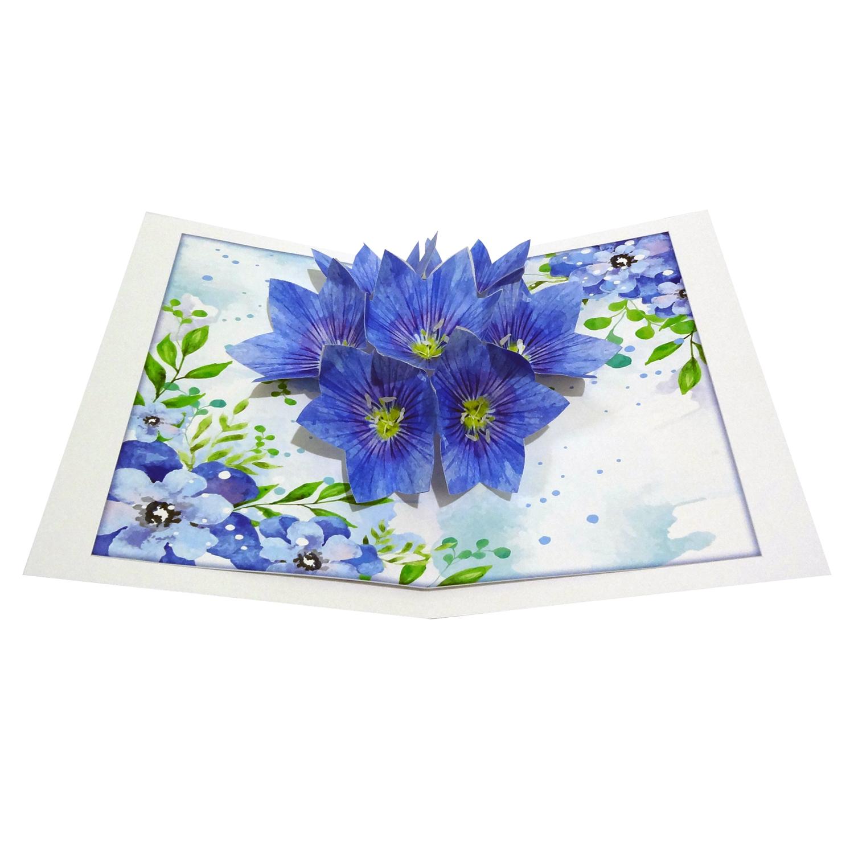 کارت پستال سه بعدی طرح گل های برجسته کد CP002